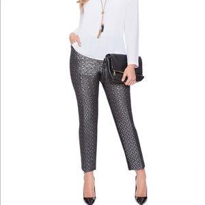 Eloquii Studio Jacquard Kady Fit Pants Black